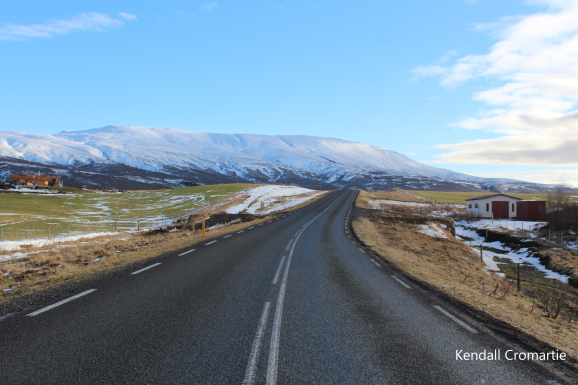 One of the best parts about living in Iceland is being able to stand in the middle of the road and think nothing of it (when you're out of the city, that is). This gives me a feeling like I'm in a place out of time, a liminal space.